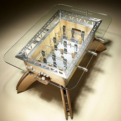 The Offside table is a half sized coffee table version of a