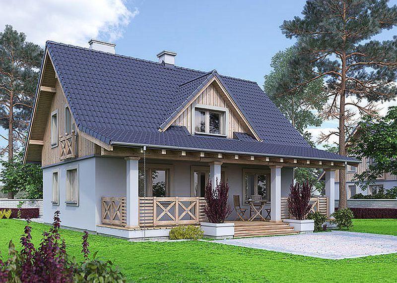 Proiecte De Case Mici Cu Suprafețe între 50 și 125 Metri Pătrați Cottage House Plans Country House Design House Exterior