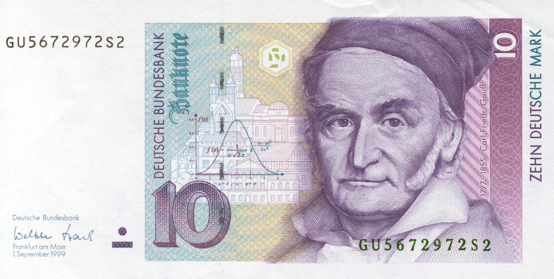 10 Deutschmark German Mark Gauss Jpg 3001 1512 Billet De Banque Loi Normale Monnaie Ancienne