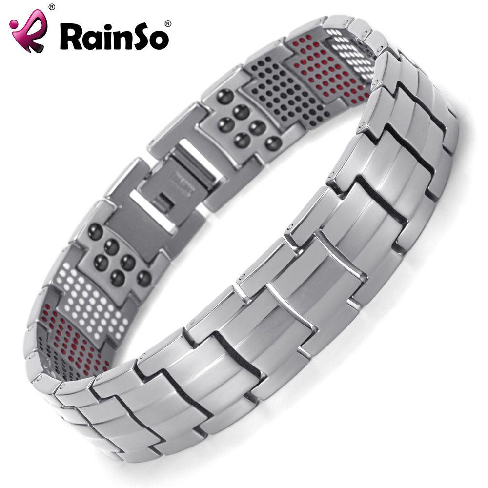 Promo rainso men jewelry healing magnetic bangle balance health