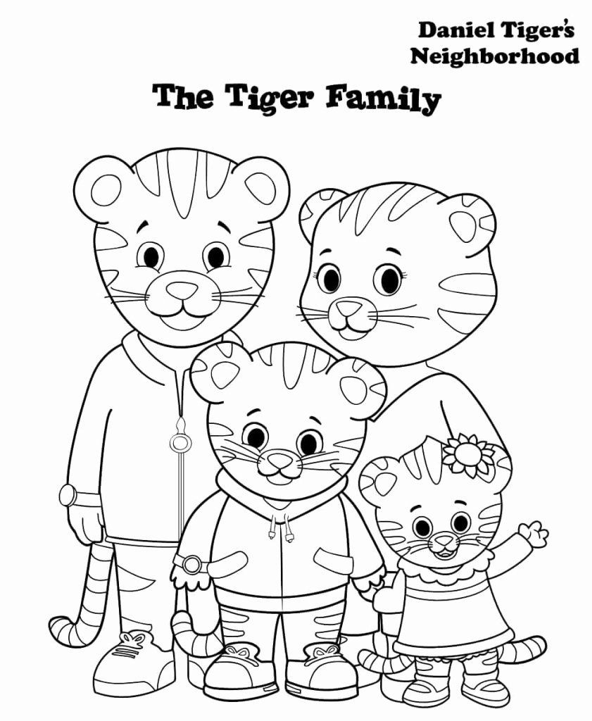 - 24 Daniel Tiger Coloring Pages Printable In 2020 Tiger Birthday