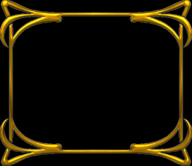 Frame2b 745 644 marcos png pinterest marcos for Marcos de fotos dorados