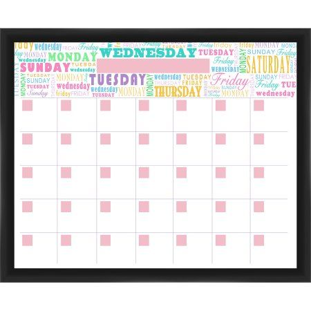 Week Calendar Black Memoboard Calendar organization