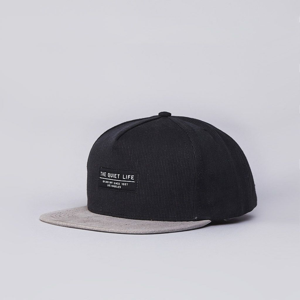 930fda30cb8 Flatspot - The Quiet Life Distressed Cord Snapback Cap Black   Tan ...
