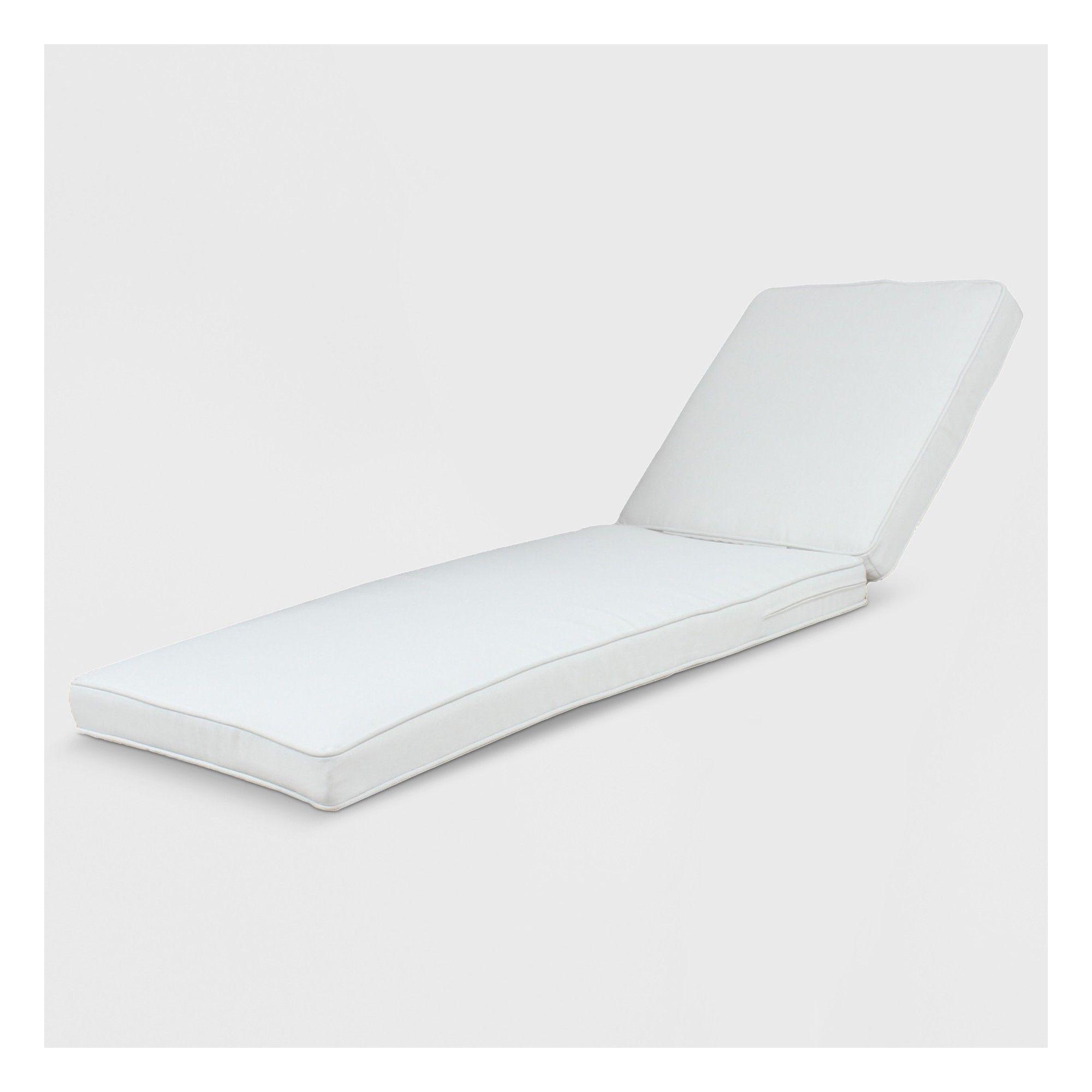Rolston Outdoor Chaise Lounge Cushion Linen Grand Basket
