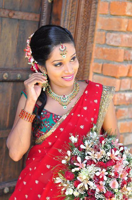 Srilankan Traditionally the bride wears red.   Sri Lanka   Pinterest