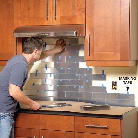 Kitchen Backsplash How To Install top 20 diy kitchen backsplash ideas   backsplash ideas