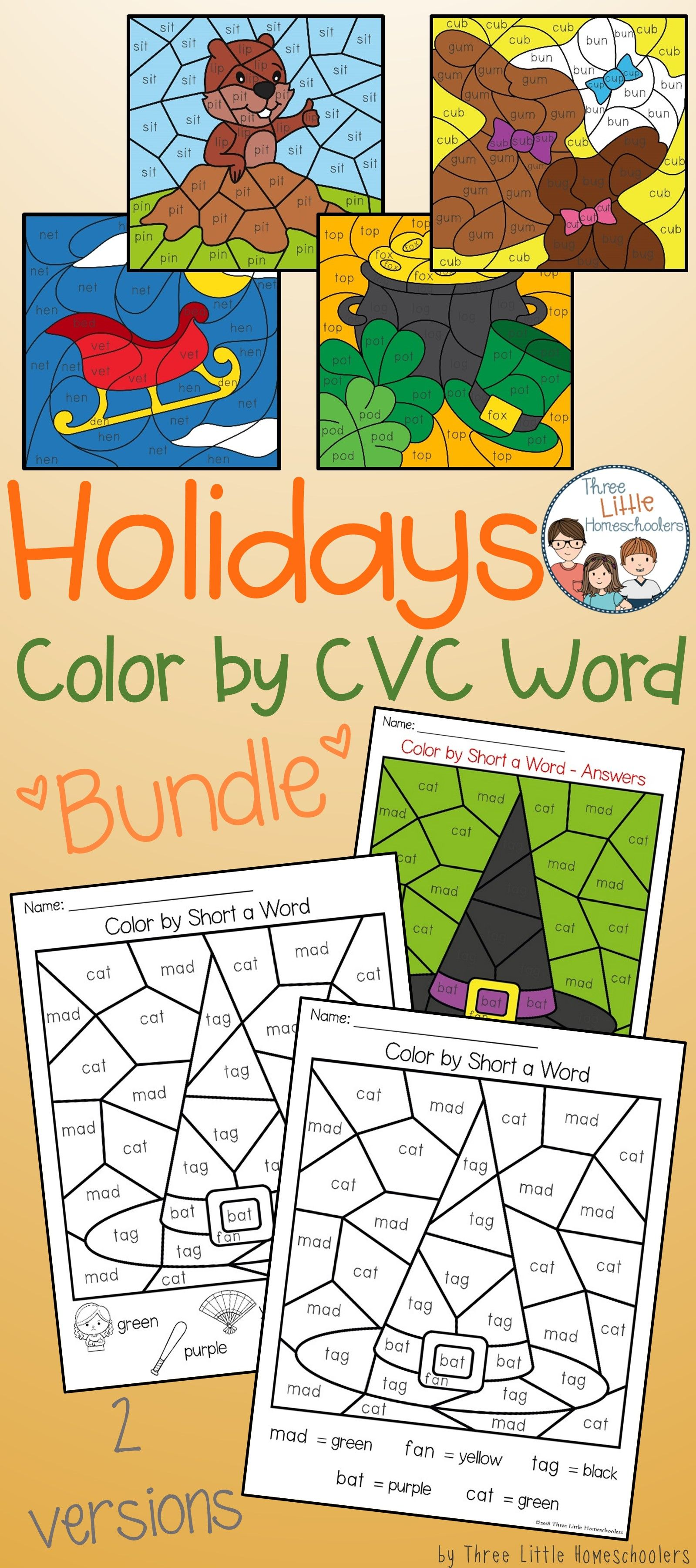 Practice Phonics Through The Entire Year This Bundle