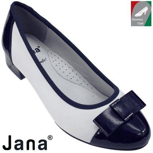 dc87e1e79c Jana női bőr cipő 8-22290-20 100 fehér kombi | Jana cipő webáruház ...