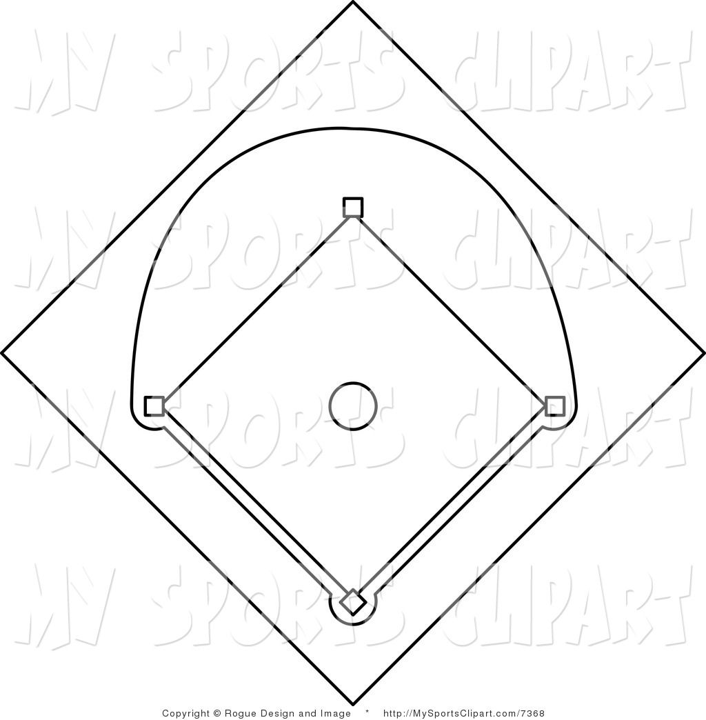 Baseball Field Clip Art Coloring Pages Baseball Field Baseball Diamond