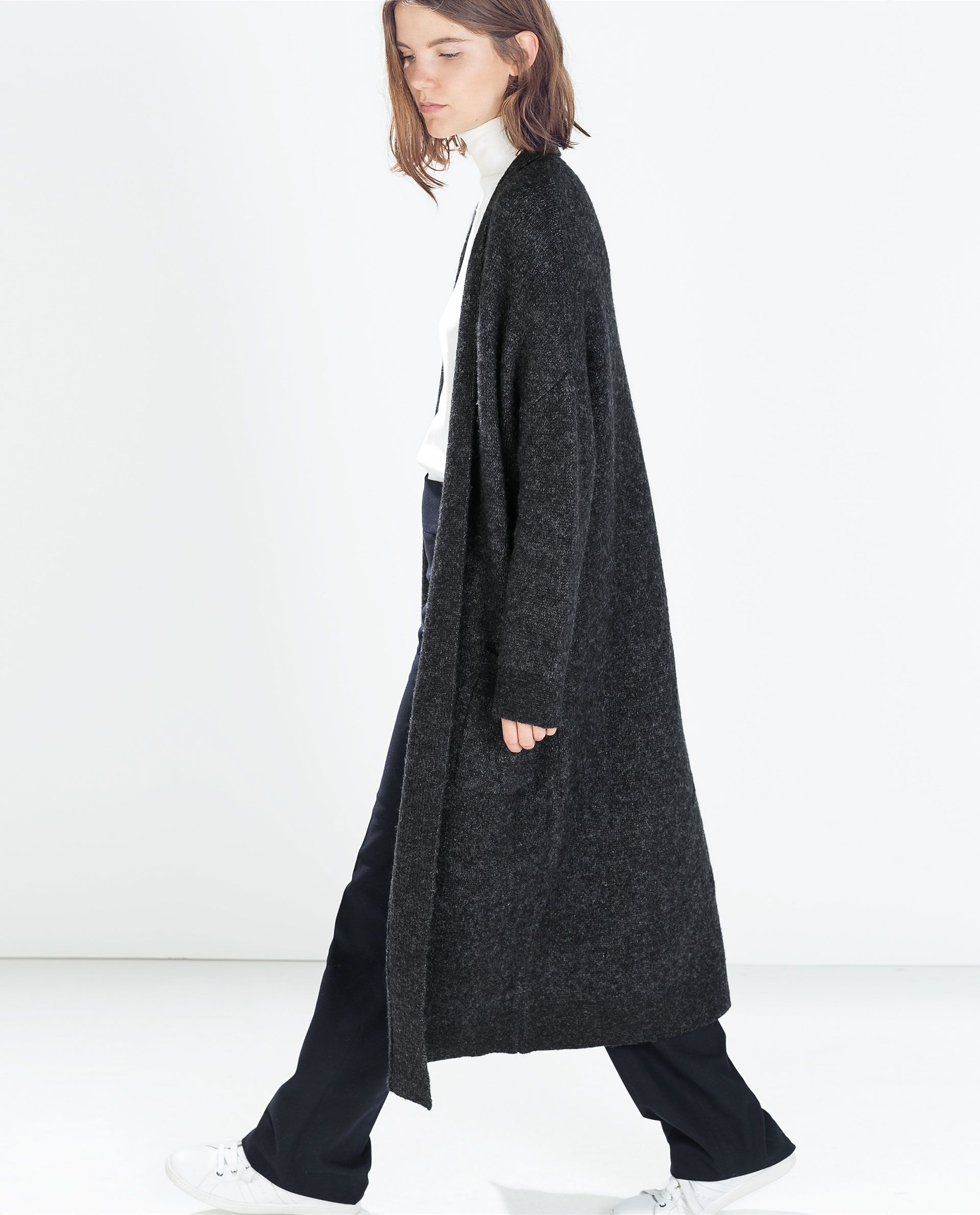 4f2546273a1 Image 3 of EXTRA LONG CARDIGAN WITH POCKETS from Zara