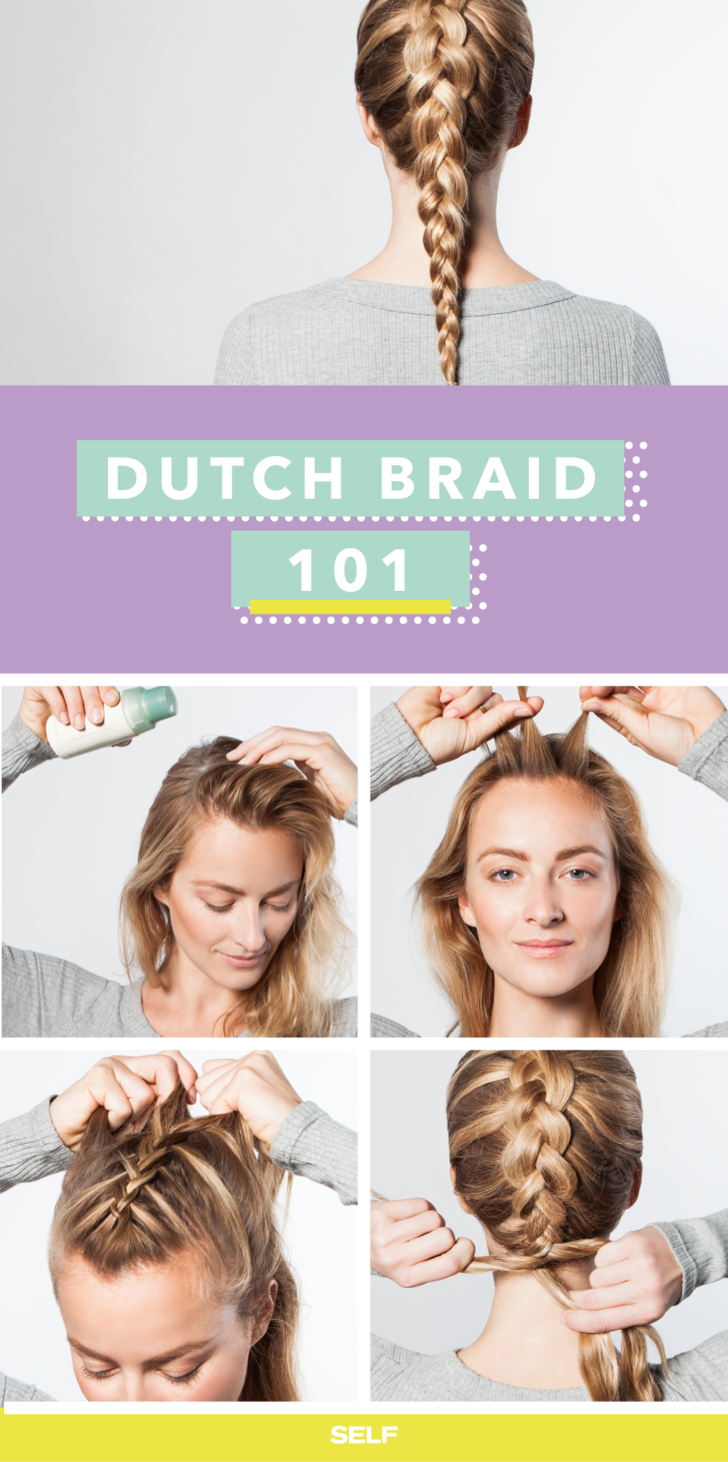 The Easy Workout Braid That Will Actually Keep Hair Out Of Your Face Dutch Braid Yoga Hairstyle Plaits Hairstyles