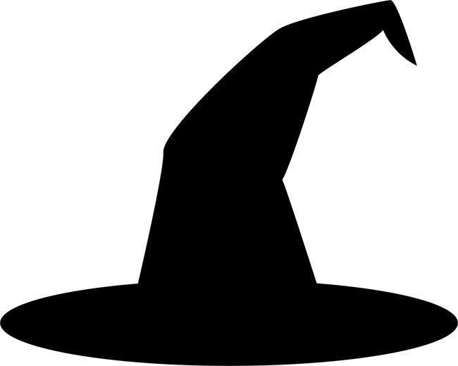 Witch Hat Stencil Halloween Silhouettes Halloween Stencils Spooky Halloween Decorations