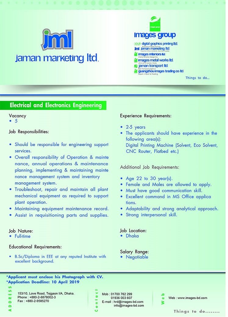Jaman Marketing Limited Job Circular 2019 BD Jobs Careers