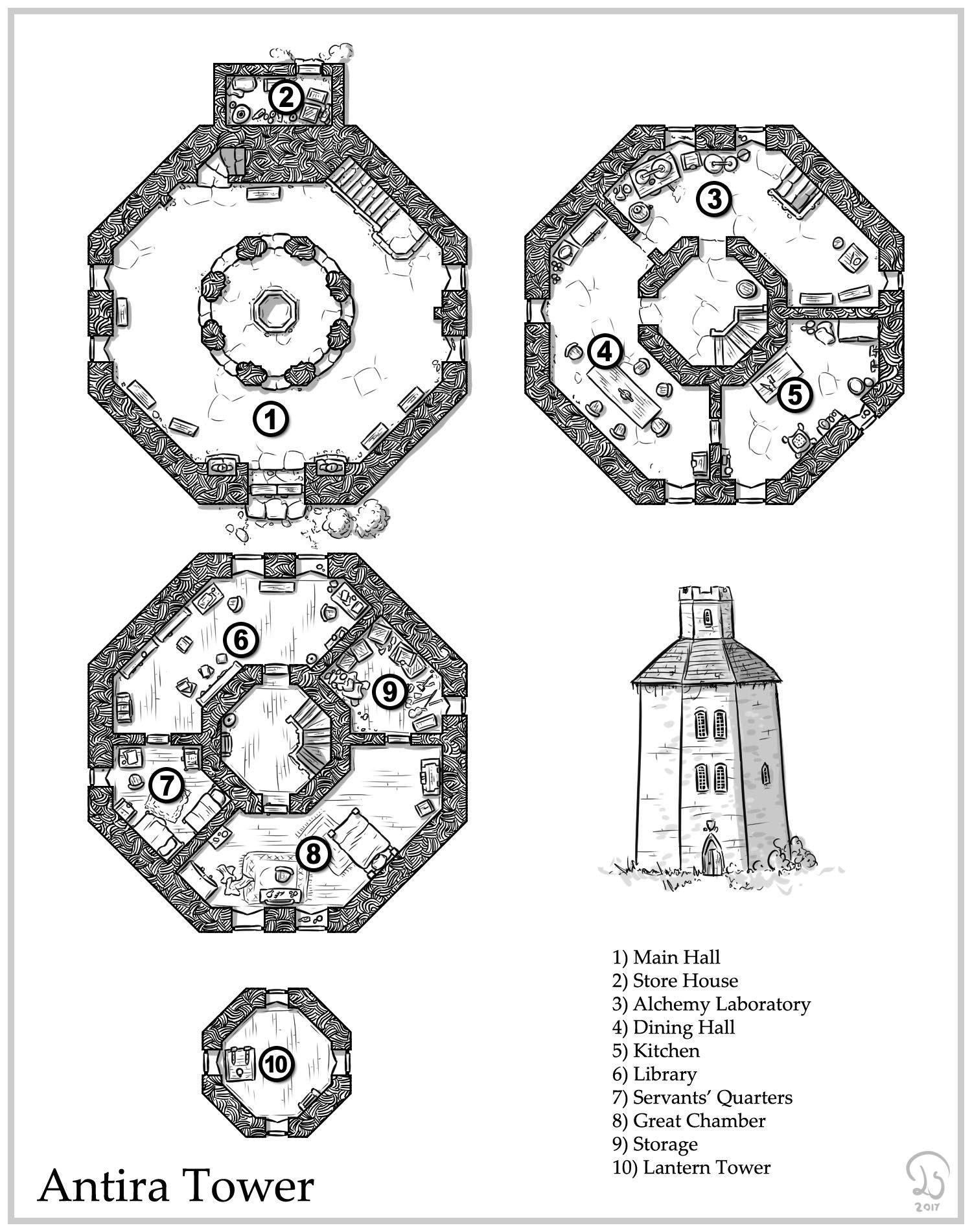 Octogonal Tower Design