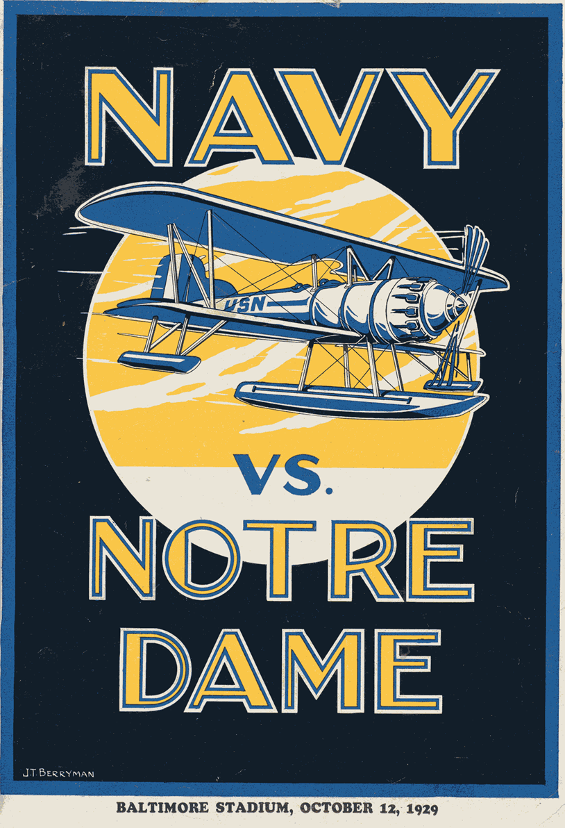1929 Navy Notre Dame Football Program Like The Irish Be Sure