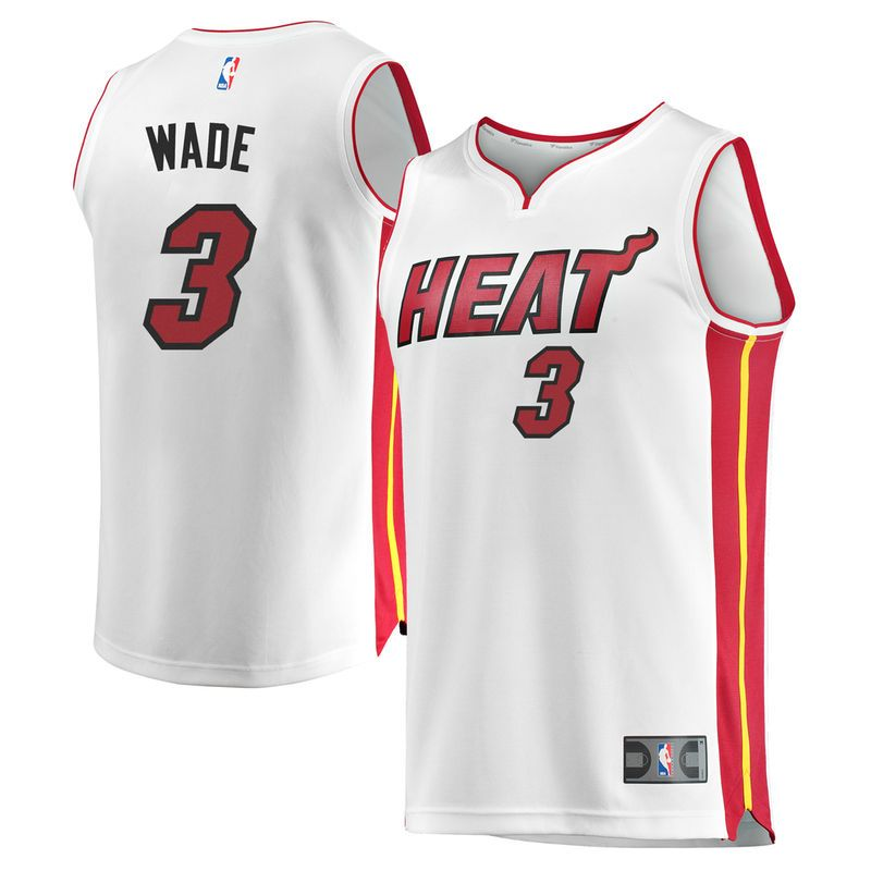 Dwyane Wade Miami Heat Fanatics Branded Fast Break Home Jersey White - Association  Edition d9fba3b82
