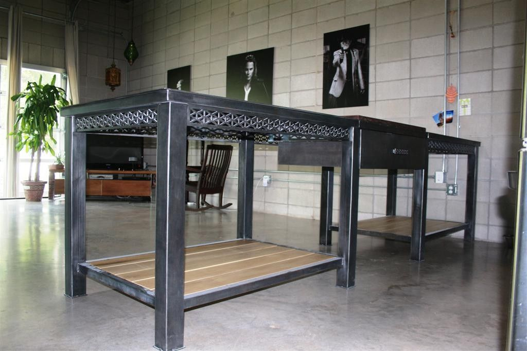 Awesome Custom Made Modern Geometric Kitchen Island Table By