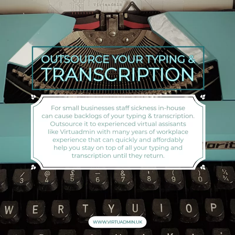 Outsource Typing and Transcription to Virtuadmin