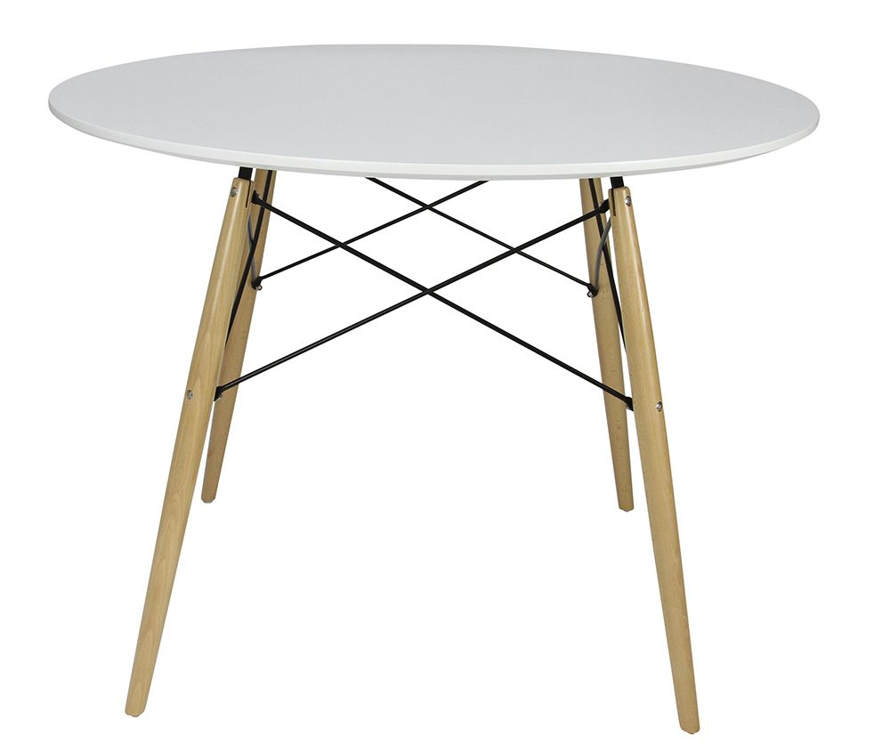 Replica Eames Dsw Medium Dining Table White Matt Blatt