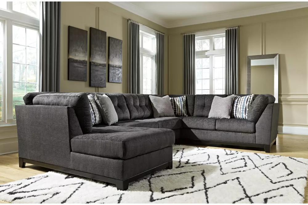 Reidshire 3 Piece Sectional With Chaise Ashley Furniture Homestore In 2020 Ashley Furniture Cheap Living Room Sets Furniture