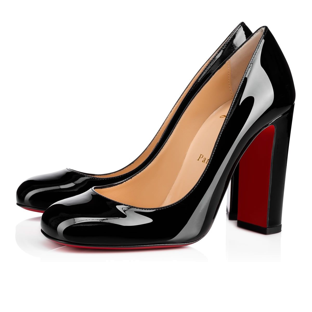 e814accd35f CHRISTIAN LOUBOUTIN Cadrilla 100 Black Patent Leather - Women Shoes ...