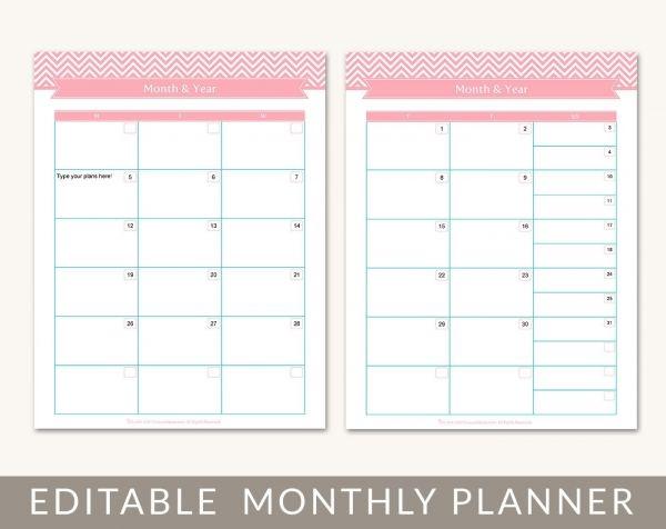 printable monthly planner 2015 calendar design pinterest blank