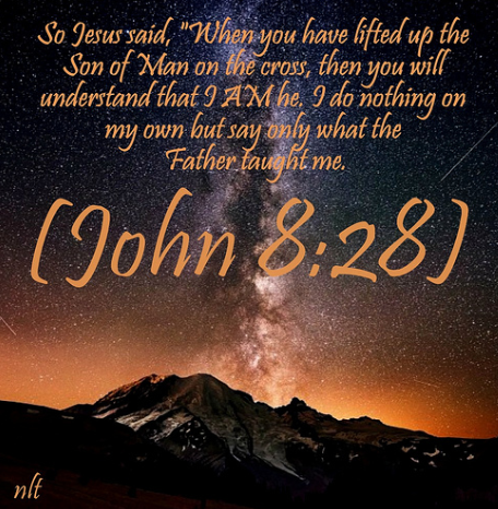 BIBLE QUOTE FOR THE DAY: JOHN 8:28 (With images) | Bible quotes ...