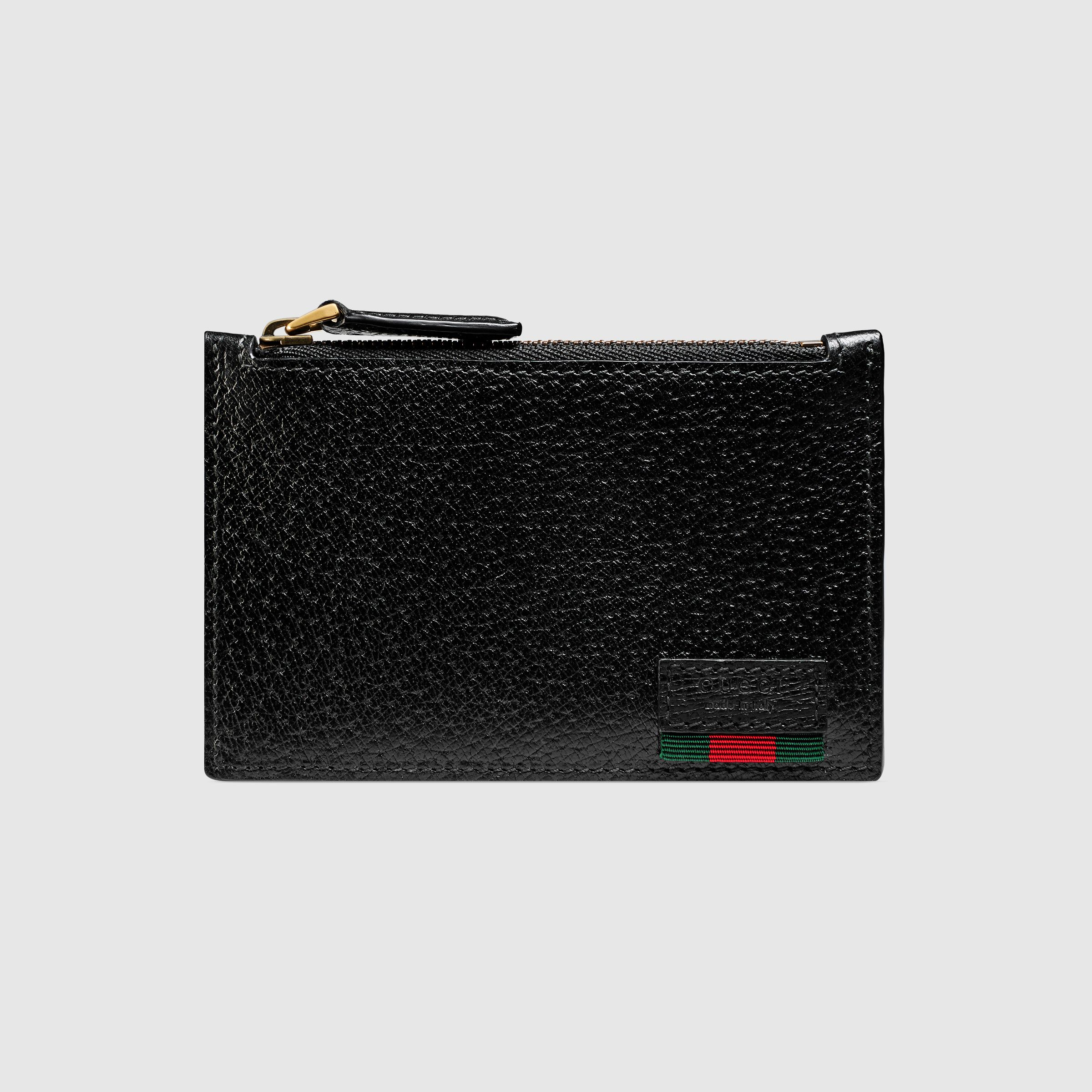 6f51924478d Gucci Leather card case with Web