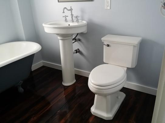 KOHLER Willamette Pedestal Combo Bathroom Sink In White K R6385 4 0 At The  Home Depot   Mobile