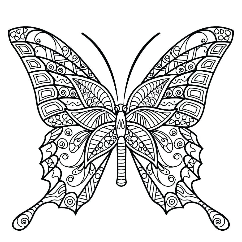 3 Easy Printable Coloring Pages Butterfly Coloring Pages Free Butterfly Coloringages For Adul Butterfly Coloring Page Insect Coloring Pages Butterfly Printable