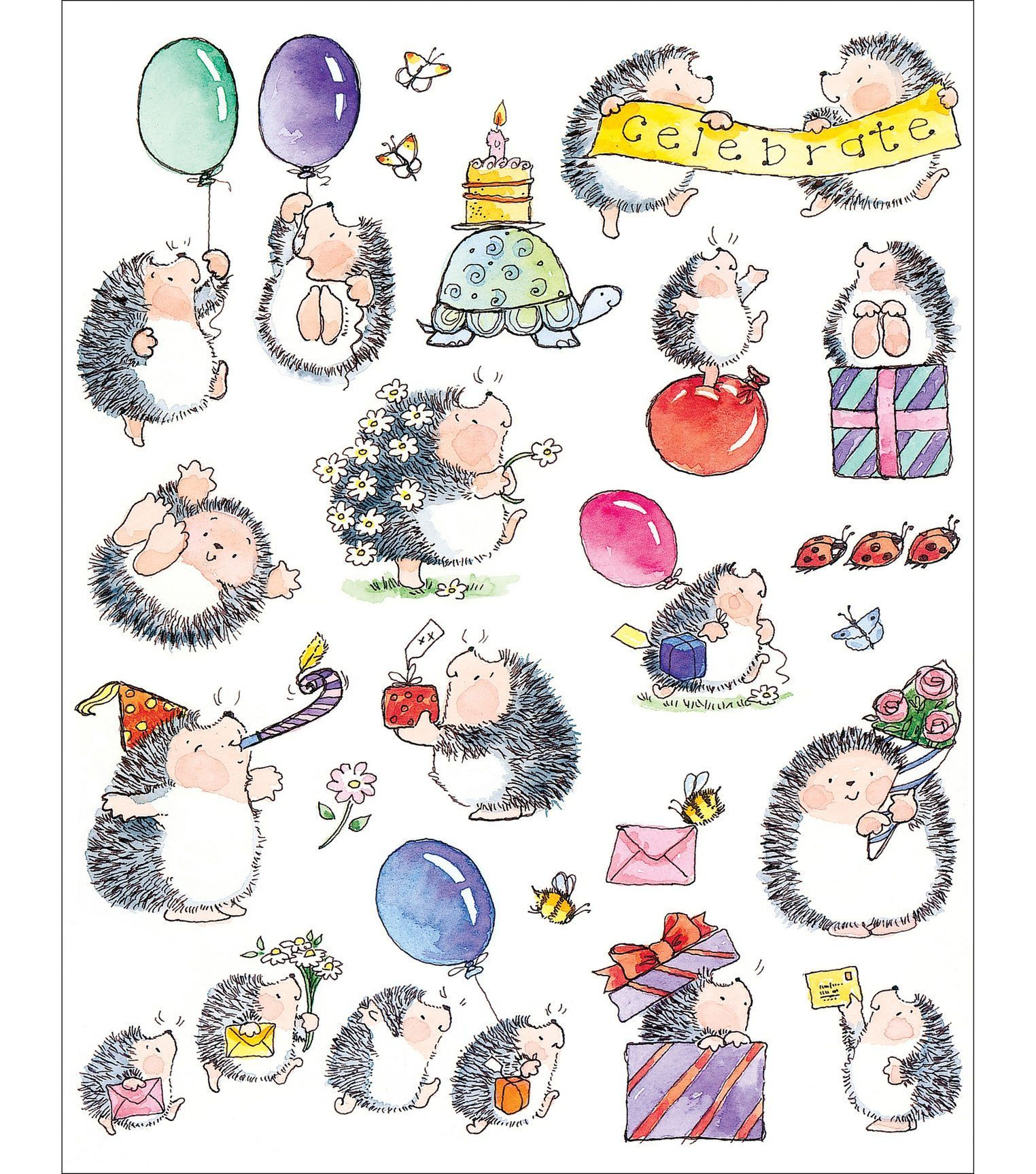Penny Black Sticker Sheet 7 X9 Bouncing With Joy