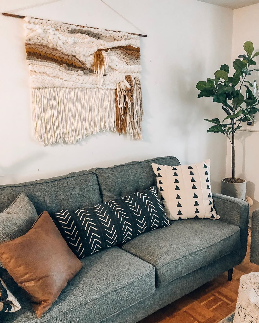Ourbohocondo On Instagram Sunday Night By Candle Light Around Here Love This Season W Dark Grey Couch Living Room Living Room Pillows Grey Couch Living Room