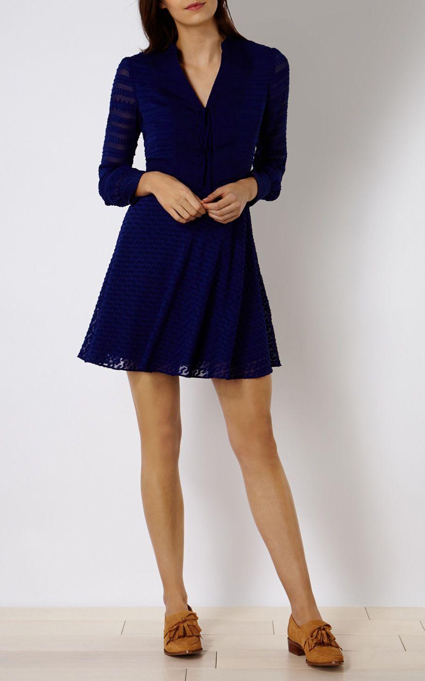 Robes | Bleu Robe dévorée | Karen Millen (été 2016)