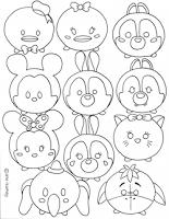 Disney Tsum Coloring Sheet