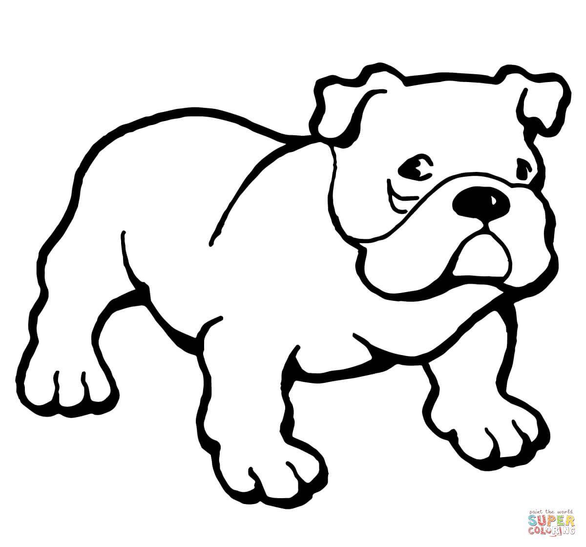 Bulldog Super Coloring Dog coloring page, Puppy