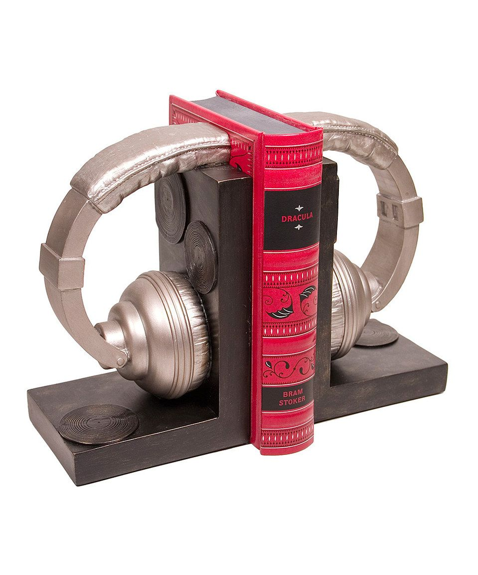 Another great find on #zulily! Black & Gray Headphone Bookend Set by Streamline #zulilyfinds