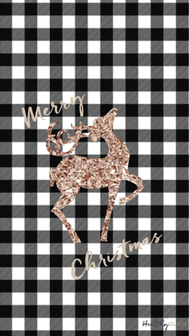 Free iphone Christmas Wallpapers. Plaid and rose gold