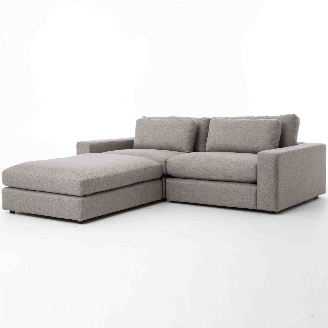 Bloor Gray Contemporary 3 Piece Small Sectional Sofa Small Sectional Sofa Sectional Sofa Sectional Sofa Sale