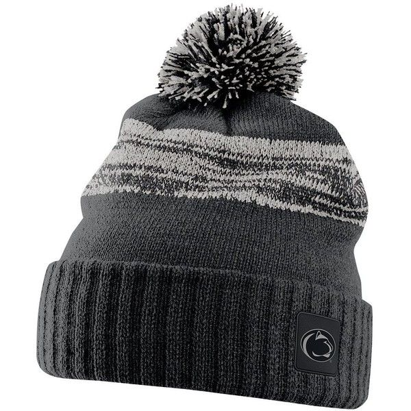 Nike Penn State Nittany Lions Striped Knit Beanie ( 32) ❤ liked on Polyvore  featuring accessories 498deaf19c8
