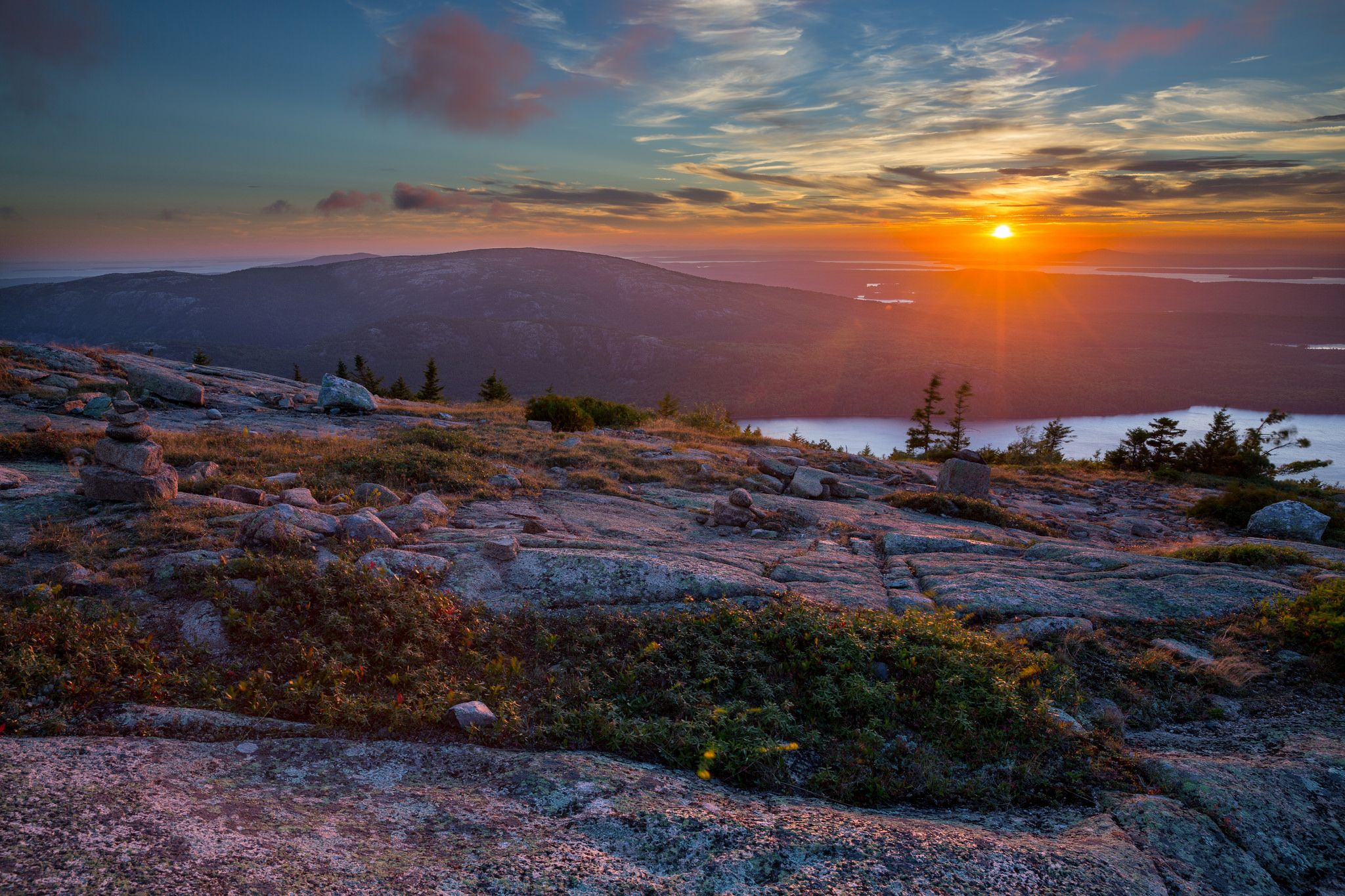 beautiful view in morning in Acadia Maine | Sunset at Cadillac ...