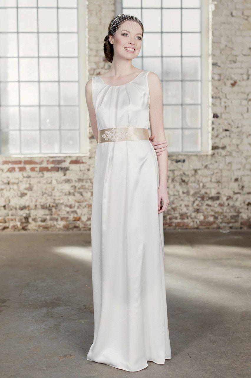Labude - Brautkleid Chiara Bodenlang Hochzeitskleid, Vintage wedding ...