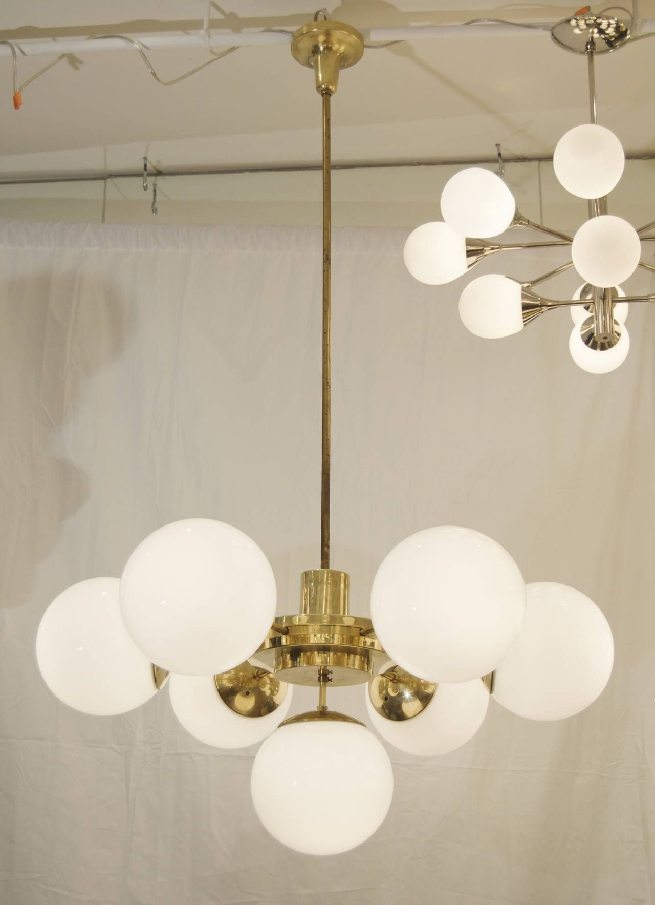 Spectacular And Massive Bauhaus Era Chandeliers Image 5