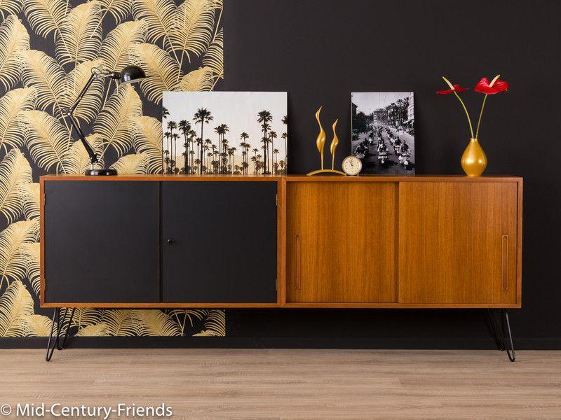 vintage kommoden 60er sideboard kommode 50er vintage. Black Bedroom Furniture Sets. Home Design Ideas