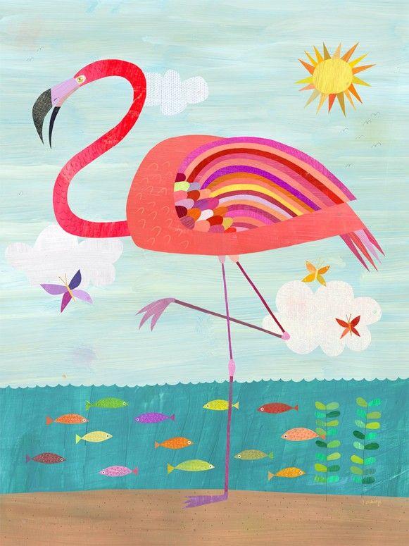 Wynwood Glam Flamingo Canvas Wall Art Flamingo Art Flamingo Painting Art Prints