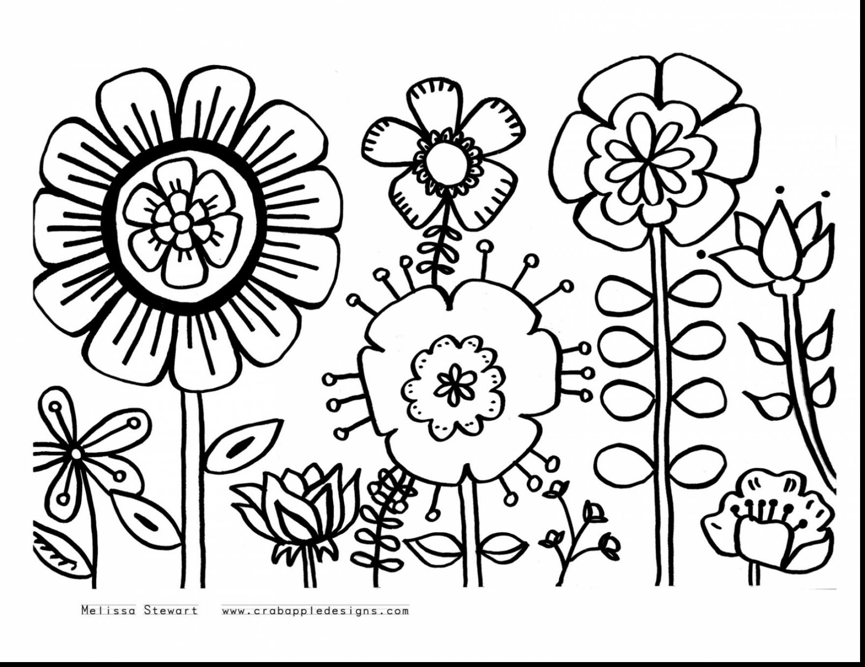 Coloring Pages Of Random Designs. Explore Easy Drawings Of Flowers and more  unbelievable remembrance day poppies coloring page with free