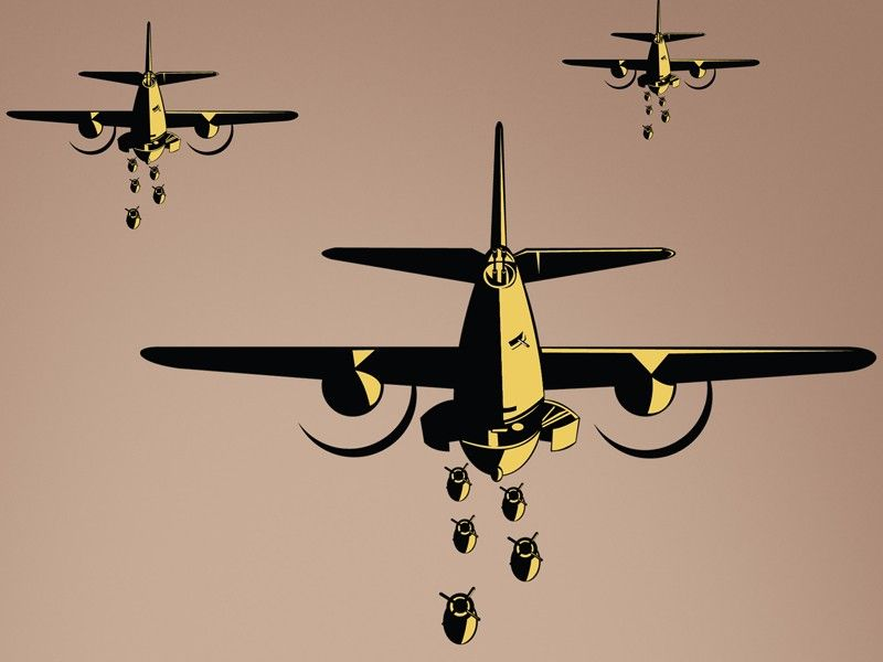 B Bombers World War  Airplane Wall Decal Vinyl Aviation - Vinyl wall decals airplane