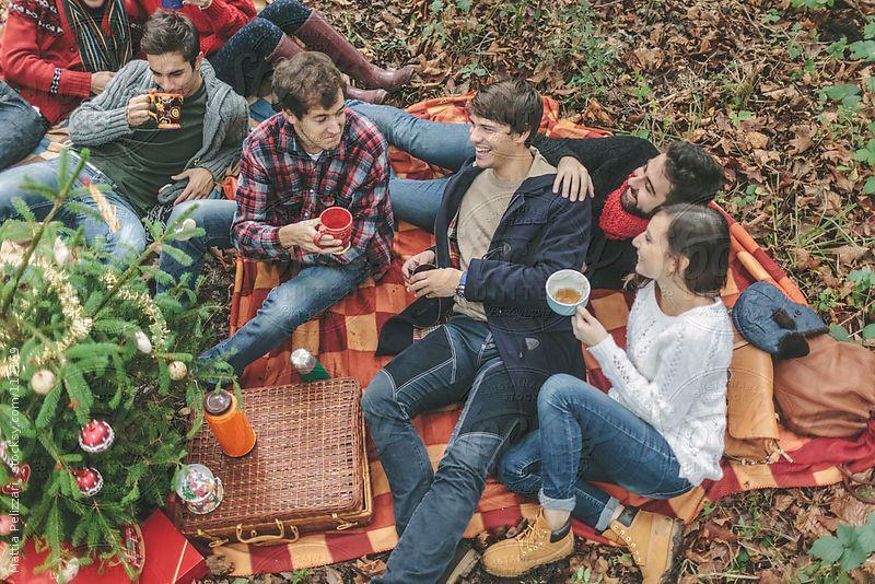 Friends During Christmas Picnic  by Mattia Pelizzari