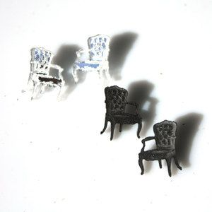 Chair Studs Silver And Black now featured on Fab.
