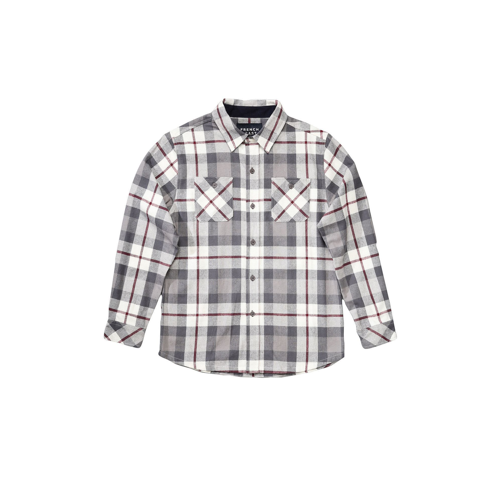Boys 4-7 French Toast Plaid Flannel Button-Down Shirt, Boy's, Size: 4, Natural